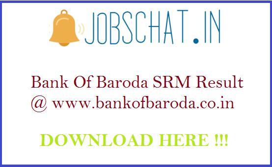 Bank Of Baroda SRM Result