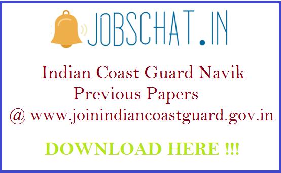 Indian Coast Guard Navik Previous Papers