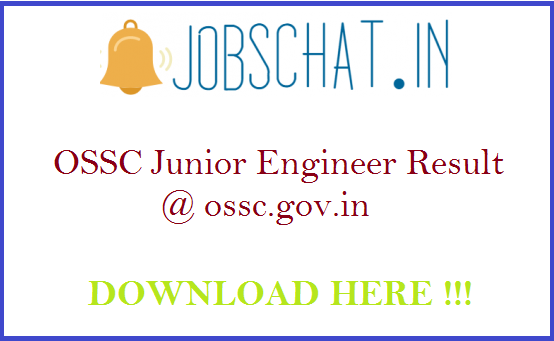 OSSC Junior Engineer Result