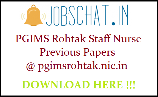 FREE] PGIMS Rohtak Staff Nurse Previous Papers   UHSR Old Papers
