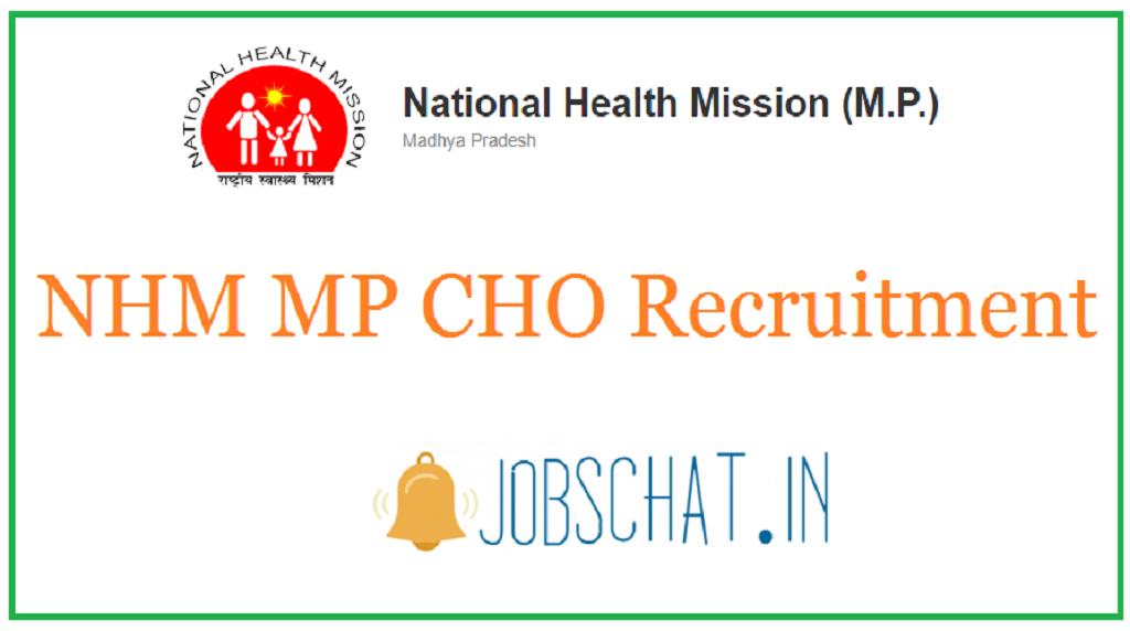 NHM MP CHO Recruitment