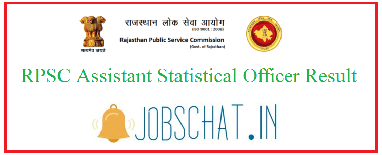 RPSC Assistant Statistical Officer Result