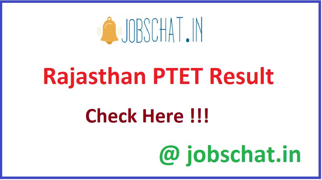 Rajasthan PTET Result