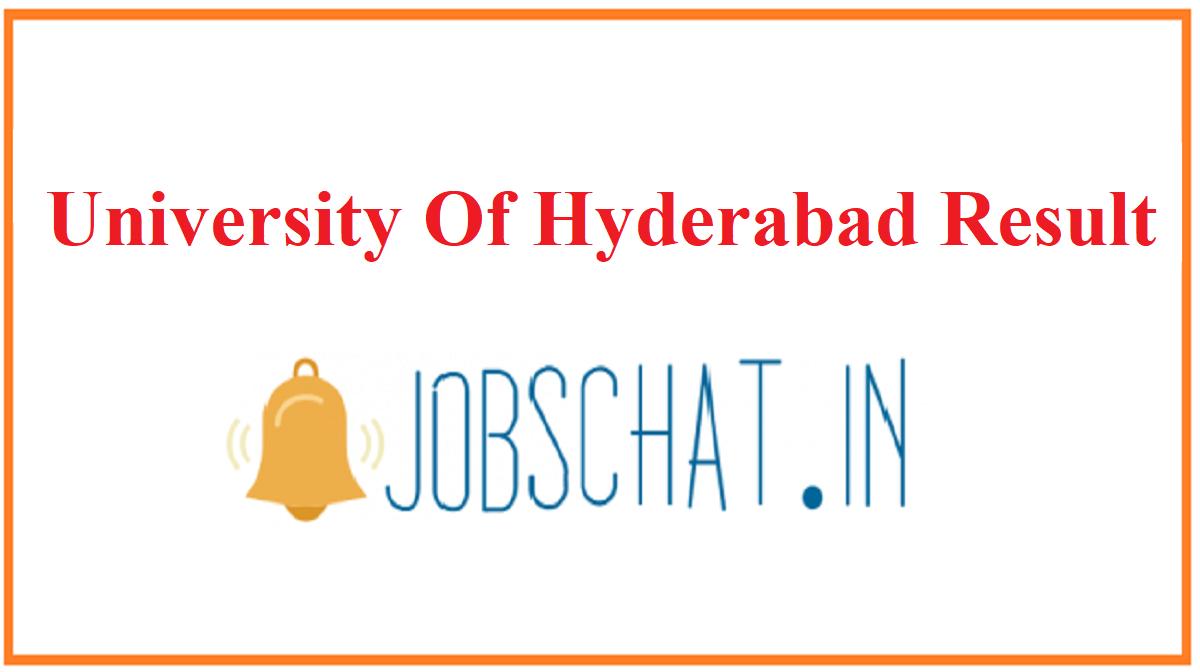 University Of Hyderabad Result