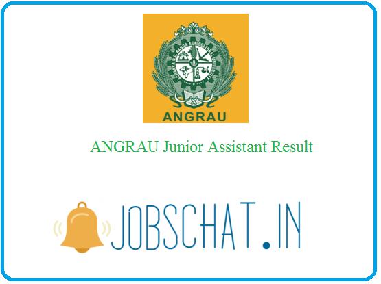 ANGRAU Junior Assistant Result