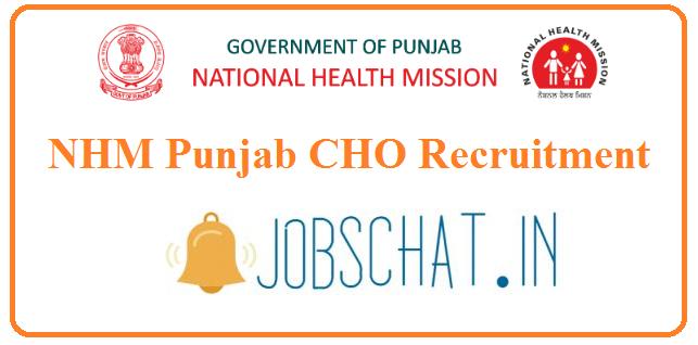 NHM Punjab CHO Recruitment