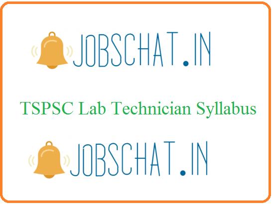 TSPSC Lab Technician Syllabus