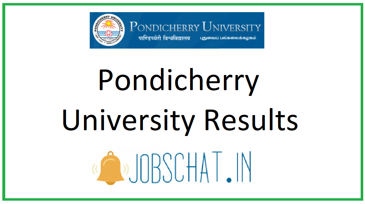 Pondicherry University Results