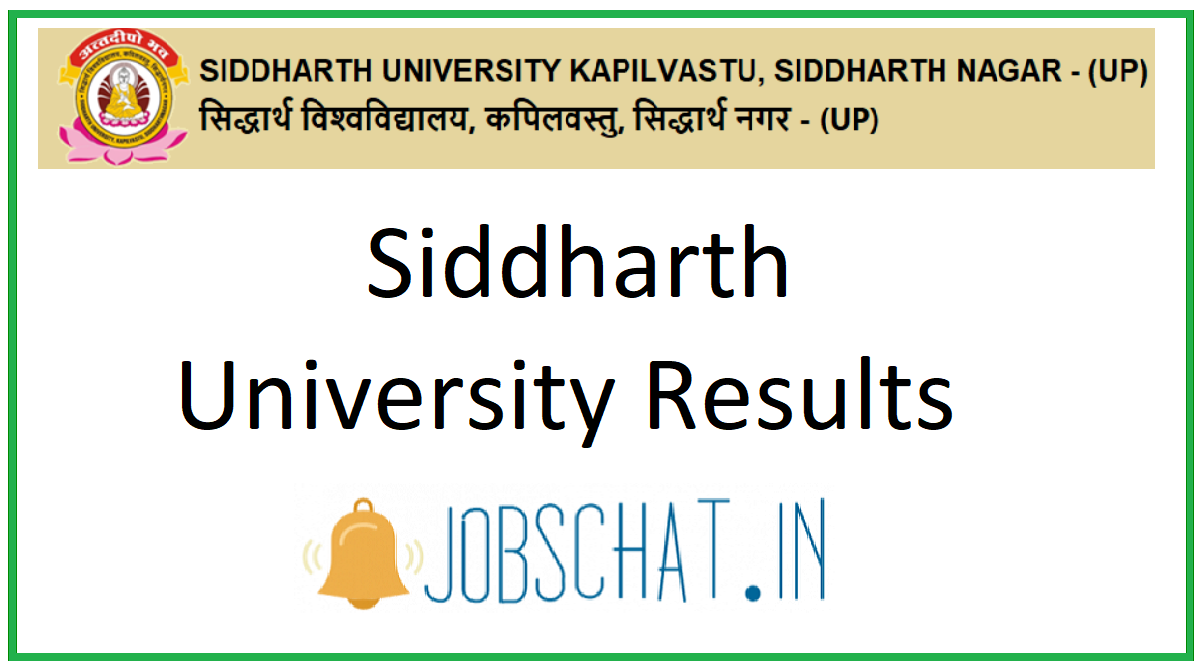 Siddharth University Results