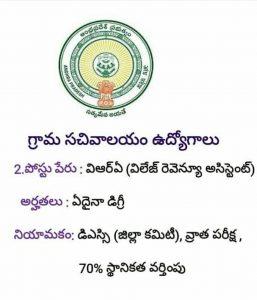 AP Grama Sachivalaya Notification