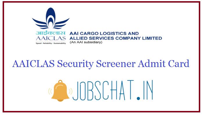 AAICLAS Security Screener Admit Card