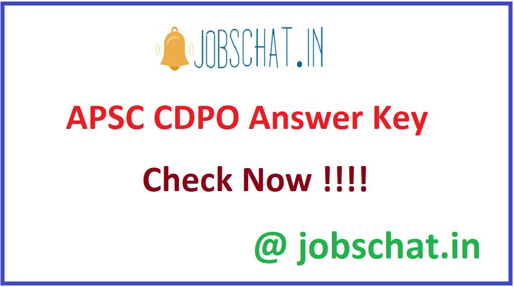 APSC CDPO Answer Key