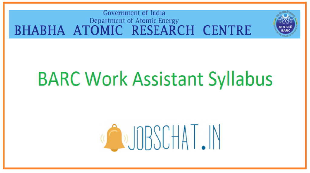 BARC Work Assistant Syllabus