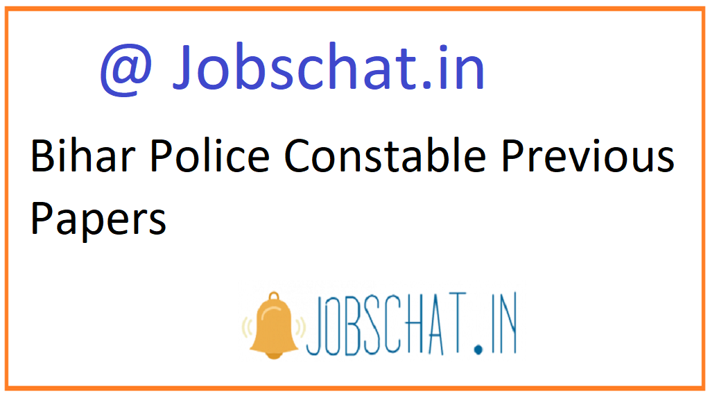 Bihar Police Constable Previous Papers