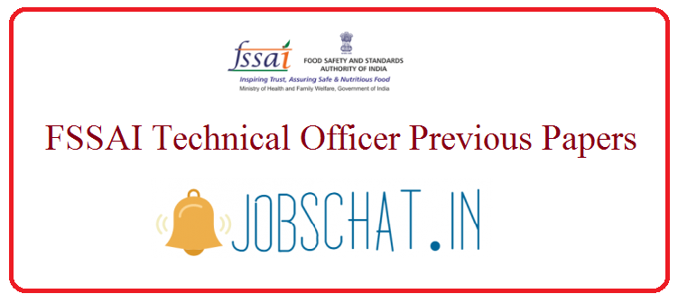 FSSAI Technical Officer Previous Papers