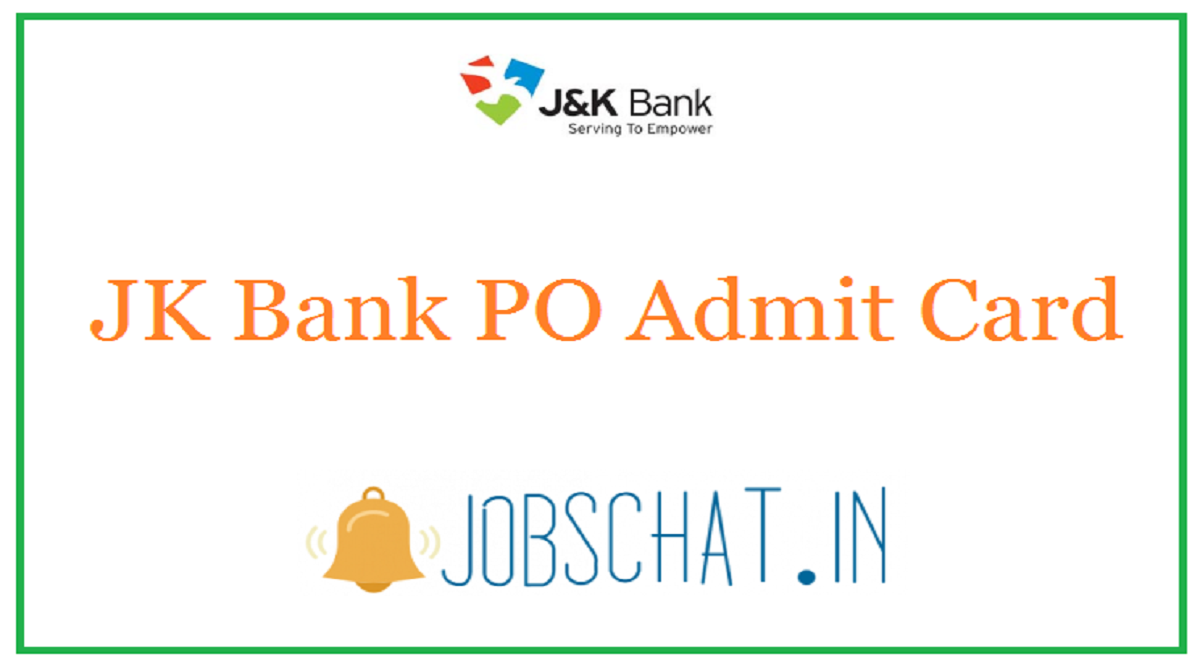 JK Bank PO Admit Card