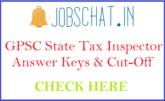 GPSC State Tax Inspector Answer Keys