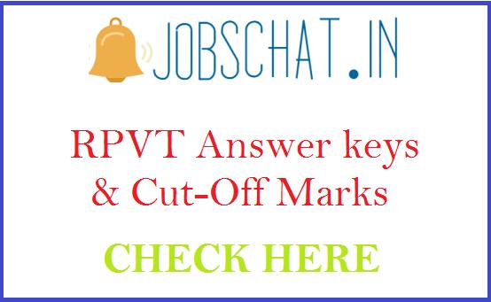 RPVT Answer keys