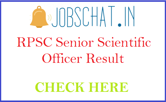 RPSC Senior Scientific Officer Result