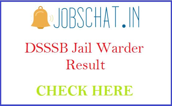 DSSSB Jail Warder Result