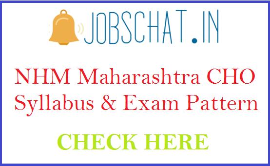 NHM Maharashtra CHO Syllabus
