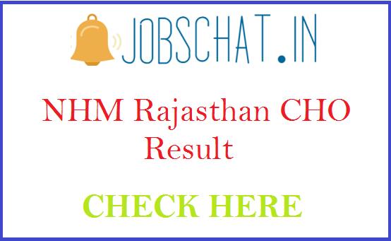 NHM Rajasthan CHO Result