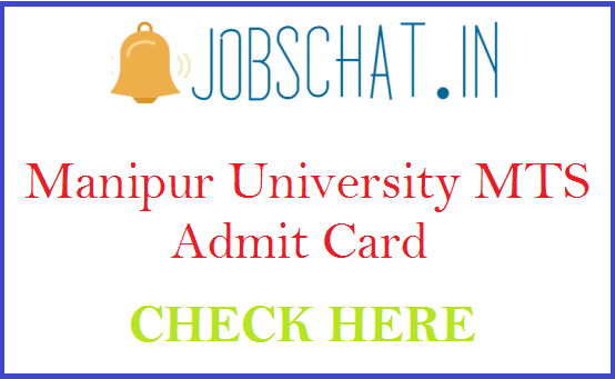Manipur University MTS Admit Card