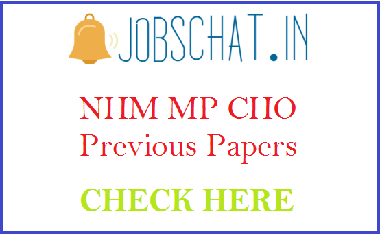 NHM MP CHO Previous Papers