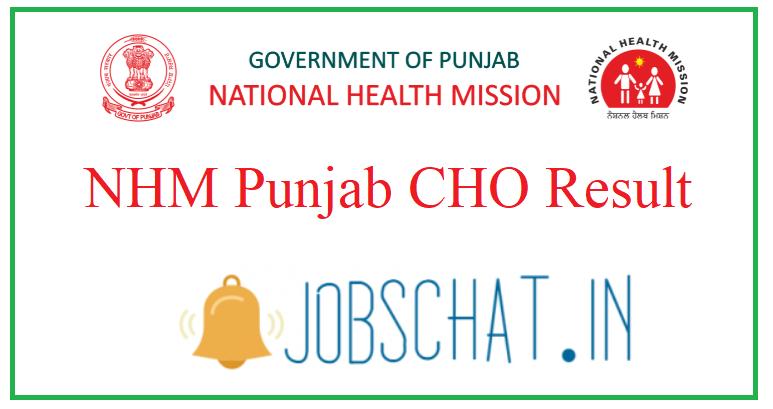 NHM Punjab CHO Result