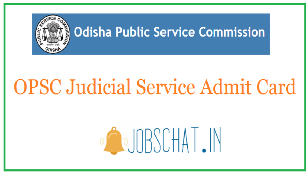 OPSC Judicial Service Admit Card