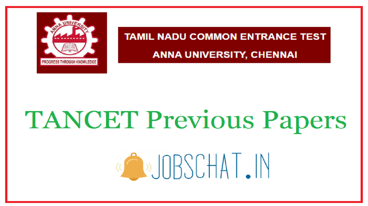 TANCET Previous Papers
