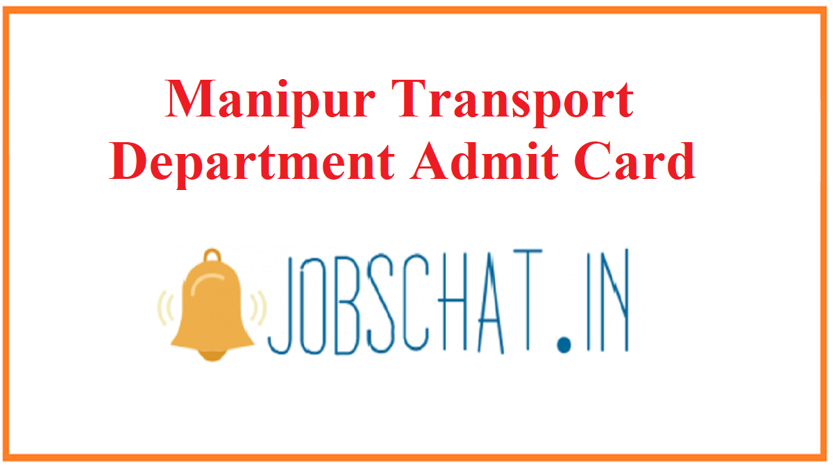 Manipur Transport Department Admit Card