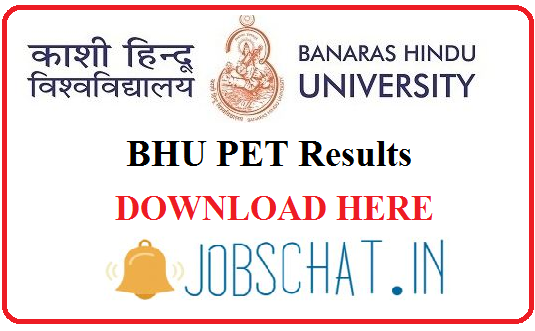 BHU PET Results 2019