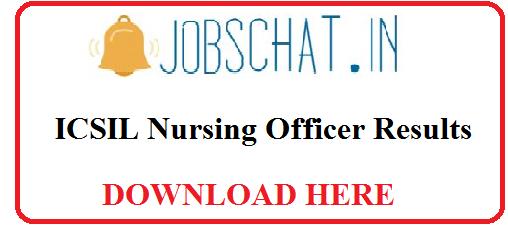 ICSIL Nursing Officer Results 2019