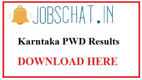 Karnataka PWD Results