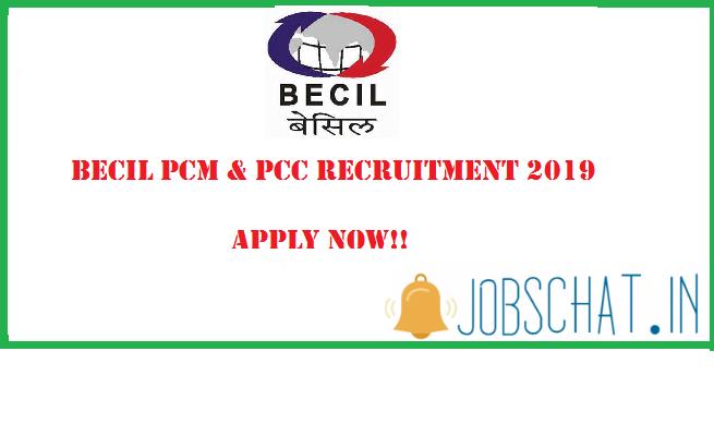 BECIL PCM Recruitment 2019