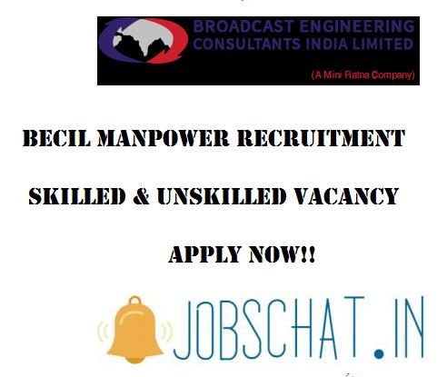 BECIL Manpower Recruitment
