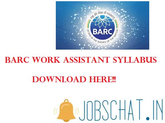 BARC Work Assistant Syllabus