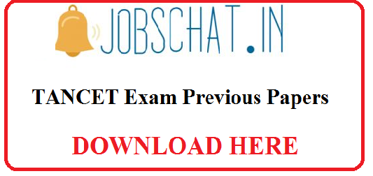 TANCET Exam Previous Paper