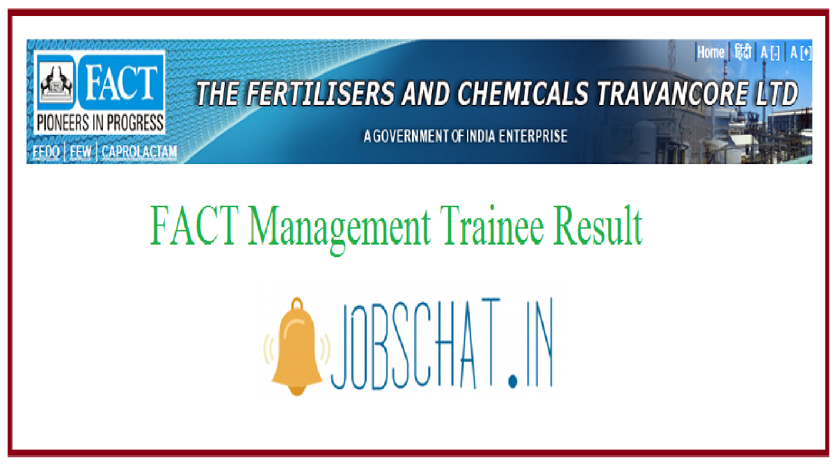 FACT Management Trainee Result