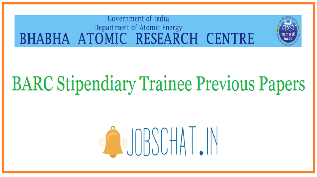 BARC Stipendiary Trainee Previous Papers