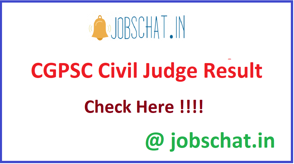 CGPSC Civil Judge Result