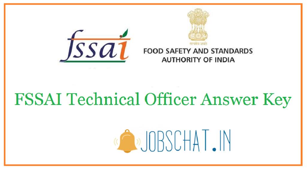FSSAI Technical Officer Answer Key