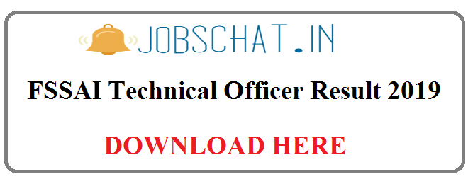 FSSAI Technical Officer Result