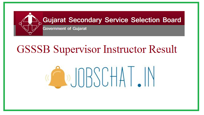 GSSSB Supervisor Instructor Result