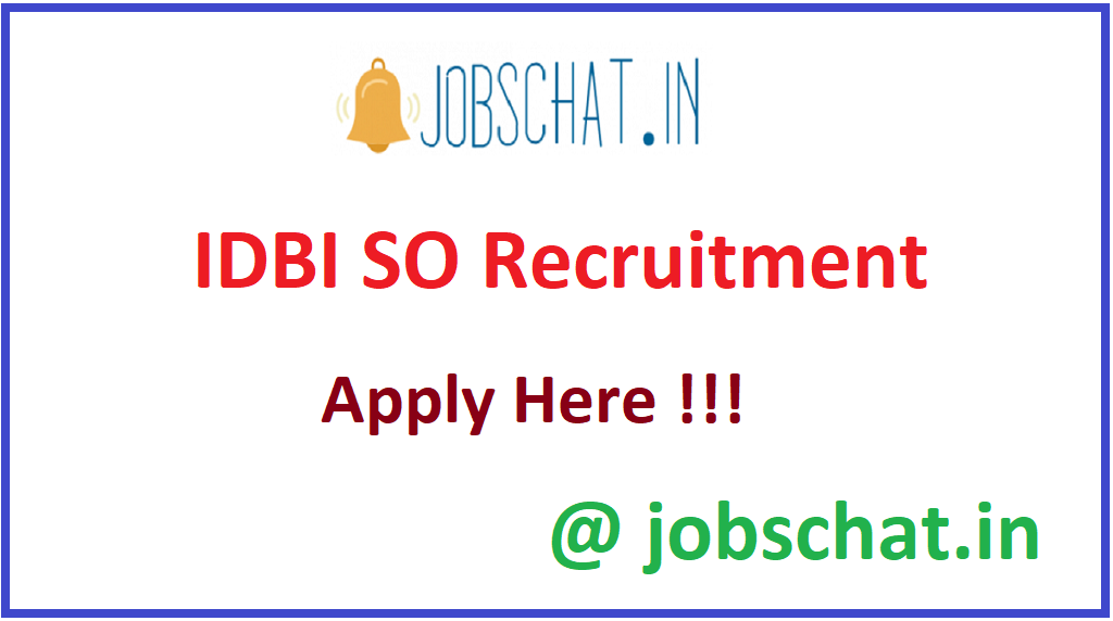 IDBI SO Recruitment