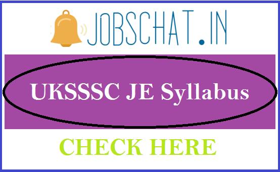 UKSSSC JE Syllabus