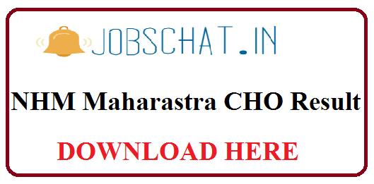 NHM Maharastra CHO Result