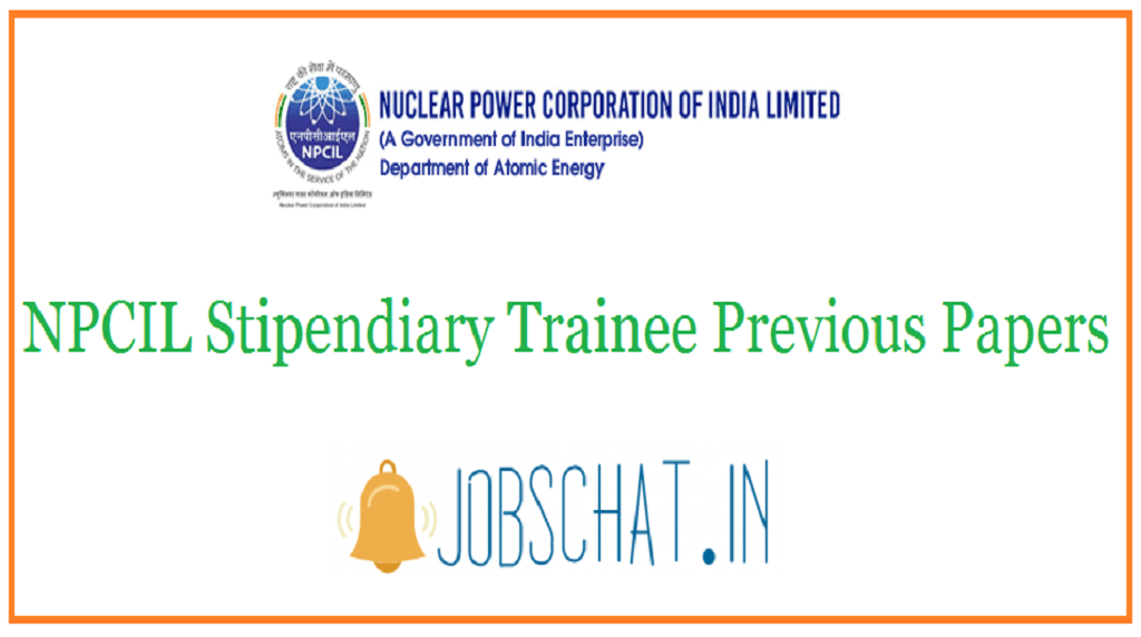 NPCIL Stipendiary Trainee Previous Papers