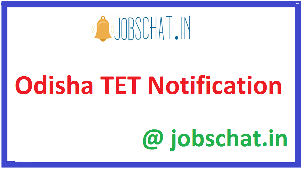 Odisha TET Notification